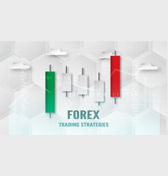 forex trading strategy concept in paper cut and vector image