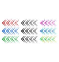 halftone arrows color web arrow with dots vector image