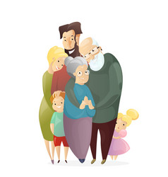 happy family father vector image