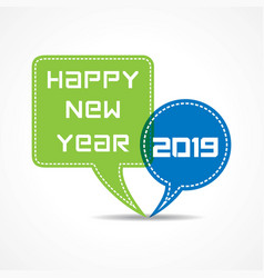 happy new year 2019 with creative design stock vector image