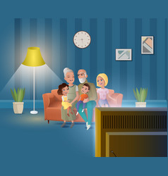 happy old age people cartoon concept vector image