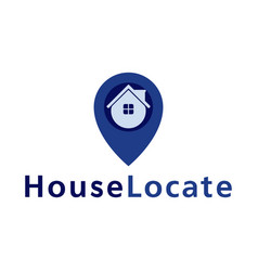 house locate point logo design template vector image