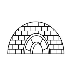 icehouse icon outline style vector image