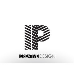 Ip i p lines letter design with creative elegant vector