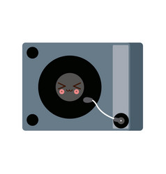 Kawaii music dj party turntable technology vector
