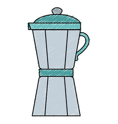 Kitchen kettle isolated icon vector