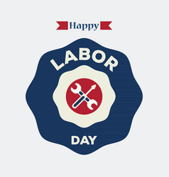 Labor day logo label vector
