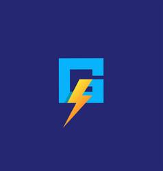 Letter g flash electrical logo design vector