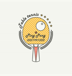 logo league table tennis ping pong vector image
