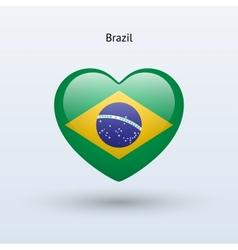 Love Brazil symbol Heart flag icon vector image