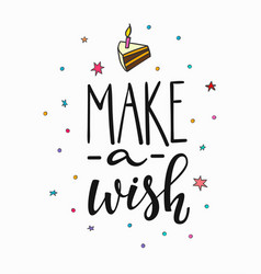 Make wish lettering typography vector