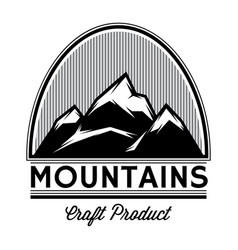 Monochrome pattern mountain tops from lines vector