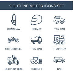 motor icons vector image