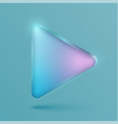 Neon realistic play button vector