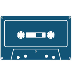 old-fashioned analog cassette icon isolated vector image