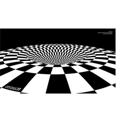 optical illusion abstract tunnel vector image