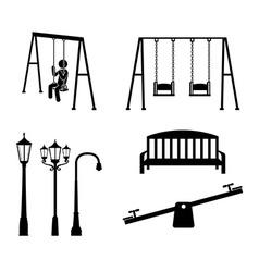 Park design over white background vector image