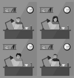 People working in the office vector