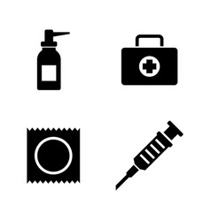 pharmacy hygiene protection simple related icons vector image