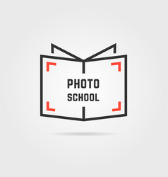 photo school logo with shadow vector image