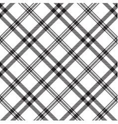 Plaid black white seamless pattern vector