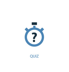 Quiz concept 2 colored icon simple blue element vector