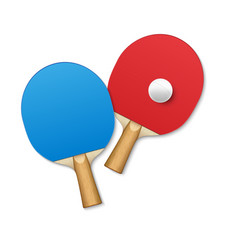 rackets for table tennis pingpong tennis game vector image