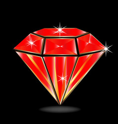 Red ruby diamond vector