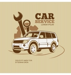 Retro car service poster vector