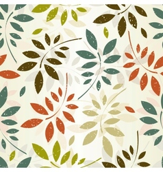seamless leaves wallpaper vector image