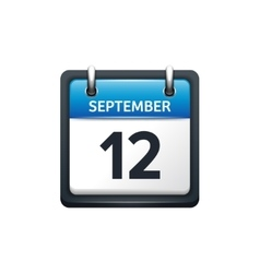 September 12 Calendar icon vector