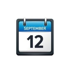 September 12 calendar icon vector