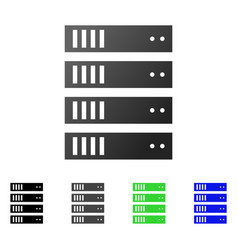 server rack flat gradient icon vector image