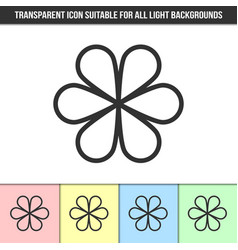Simple outline transparent abstract icon vector