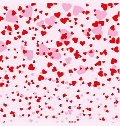 small red and pink hearts background vector image