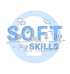Soft skills social and emotional intelligence vector