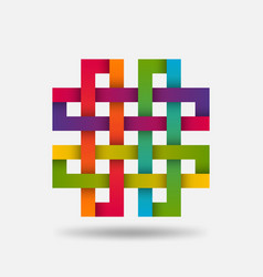 Solomon knot symbol in in rainbow gradient colors vector