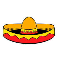 sombrero icon cartoon vector image