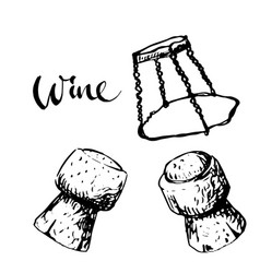 sparkling wine cork vector image