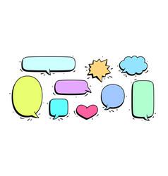 Speech bubble set chat message vector