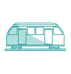 subway transport fast flat shadow vector image