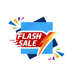 summer flash sale banner template design special vector image