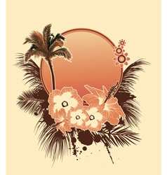 Summer with hibiscus vector
