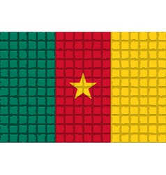 The mosaic flag of Cameroon vector