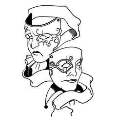 Thespian mask eps vector
