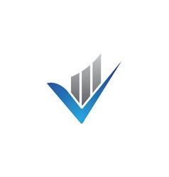 V letter logo template icon vector