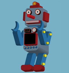 Vintage toy robot vector