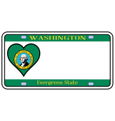 Washington state license plate vector