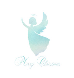 Watercolor angel with wings and nimbus vector