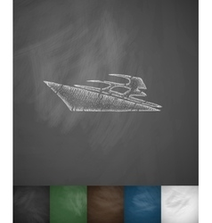 yacht icon Hand drawn vector image